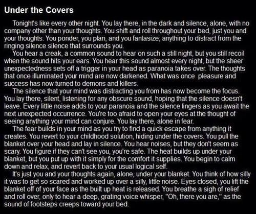 Under the covers | Horror stories | Pinterest | The o'jays