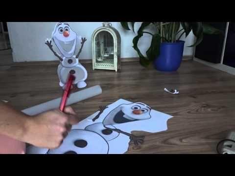 Frozen Olaf Eiskönigin St Martin Laterne Basteln Youtube