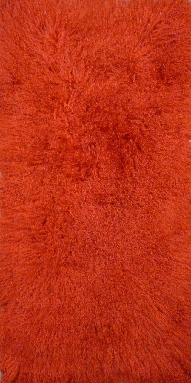 Burnt Orange Tibetan Lamb Rug