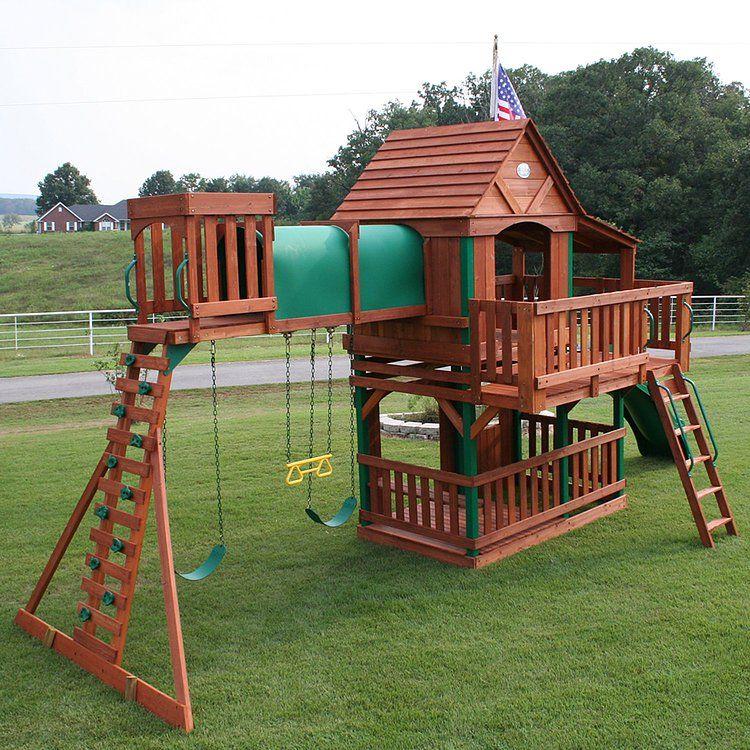 Wooden Swingsets Playsets Backyard Imagination Module De Jeux Exterieur Portique De Jeux Jeux Enfant Exterieur