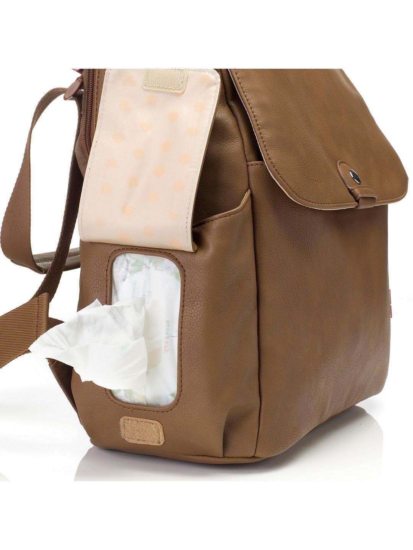 Babymel Robyn Convertible Vegan Leather Backpack Changing Bag Tan In 2020 Leather Changing Bag Leather Baby Bag Vegan Leather Backpack