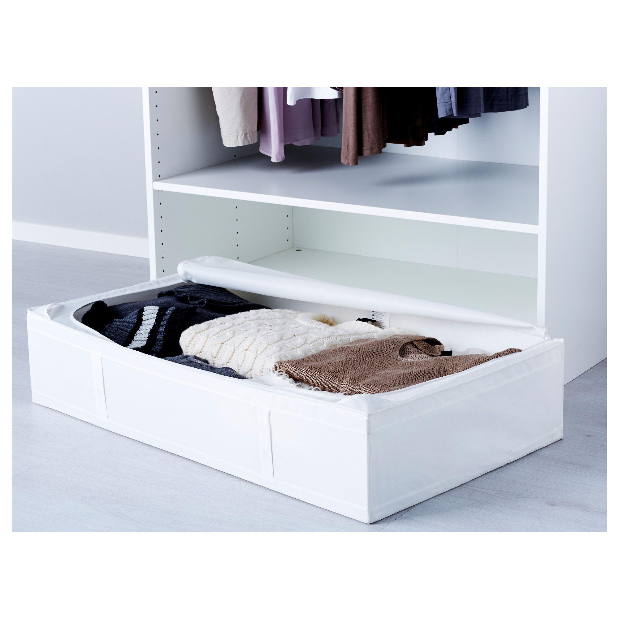 Skubb Sac De Rangement Blanc 93x55x19 Cm Ikea En 2020 Rangement Sac Rangement Ikea