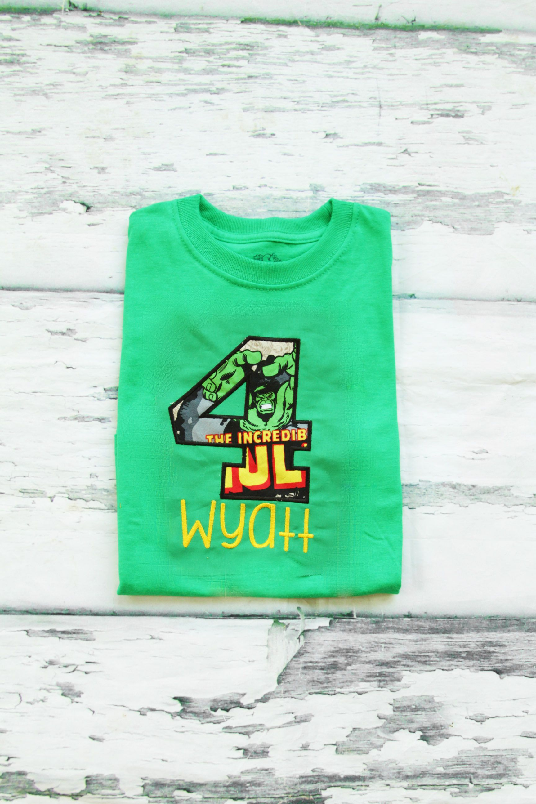 Boy Fourth Birthday Hulk Themed 4th Shirt Toddler Marvel T With Green Number 4 Avengers By