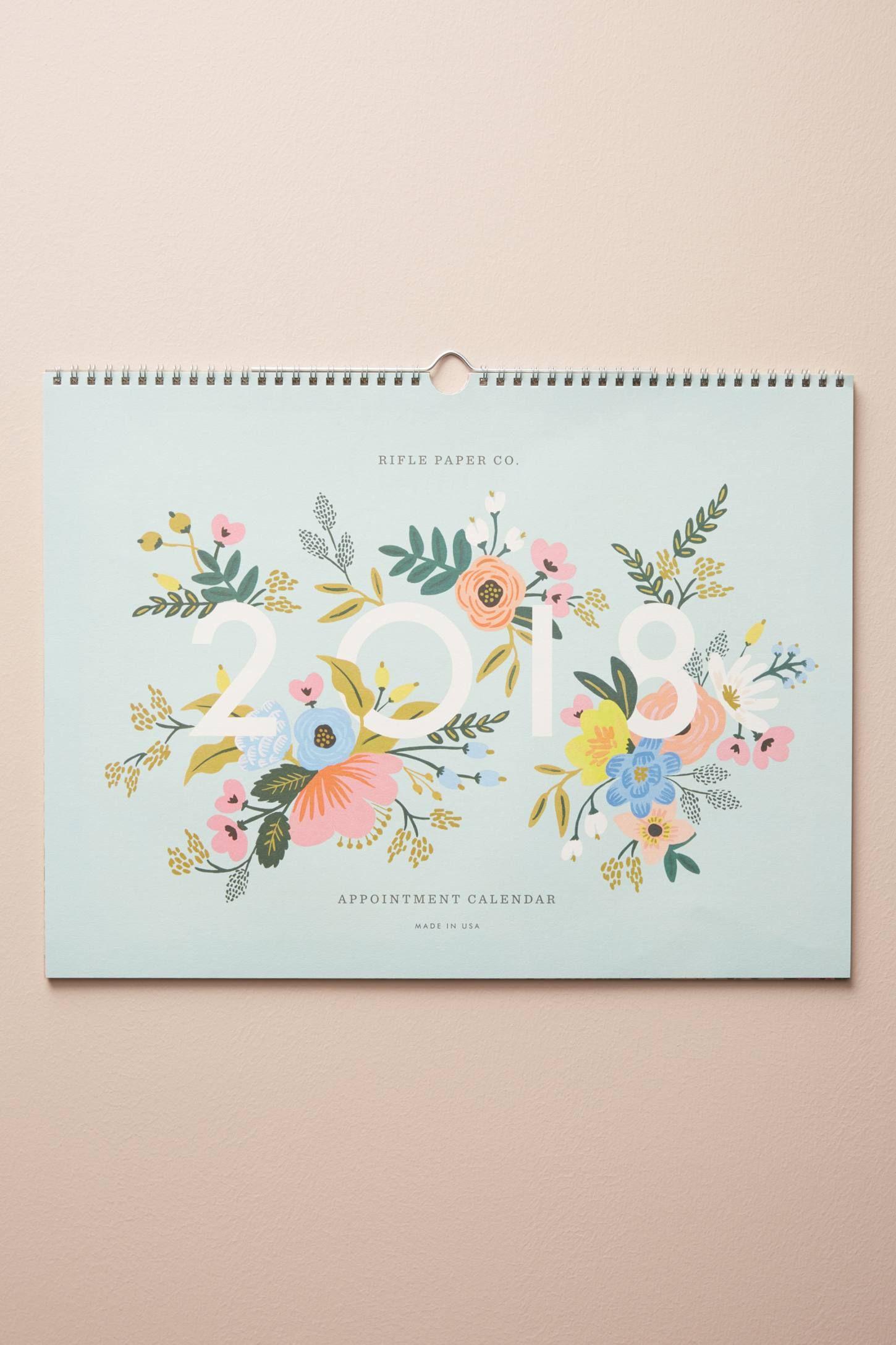 Botanical 2018 Appointment Calendar Appointment calendar