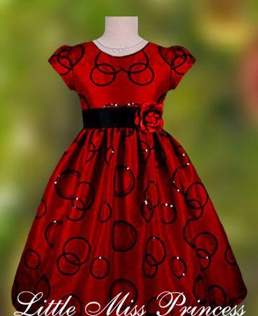 Flower Girl Dress In Red And Black Renaissance Wedding Dresses