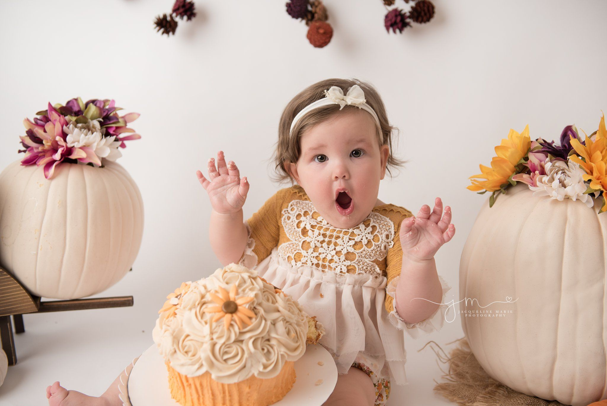 first birthday photographer in columbus ohio styles cake smash