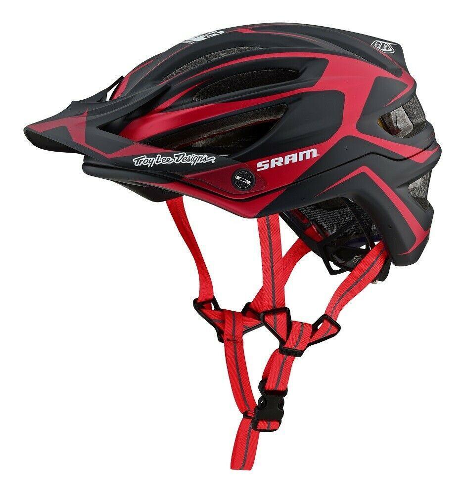 Troy Lee Designs 2019 A2 Mips Dropout Sram Bike Helmet Red Adult