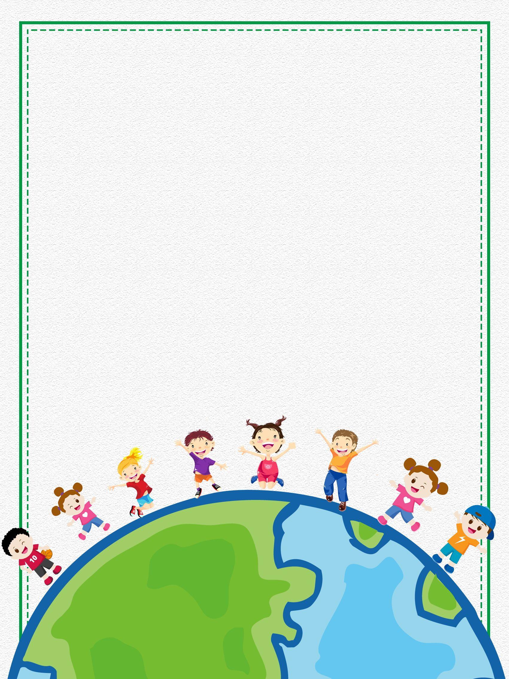 Painted International Childrens Day Background Design Desain Banner Latar Belakang Kreatif