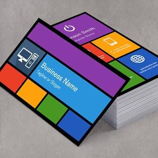 Computer business card templates custom business card templates computer business card templates reheart Image collections