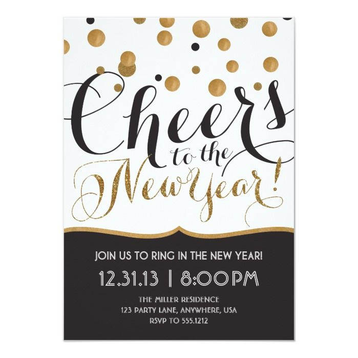 New Year's Eve Party Invitation | Zazzle.com | New years ...