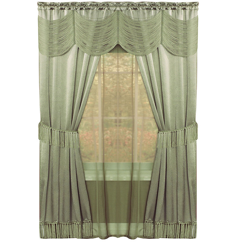 Halley 6 Pc Sheer Rod Pocket Curtain Set Rod Pocket Curtains