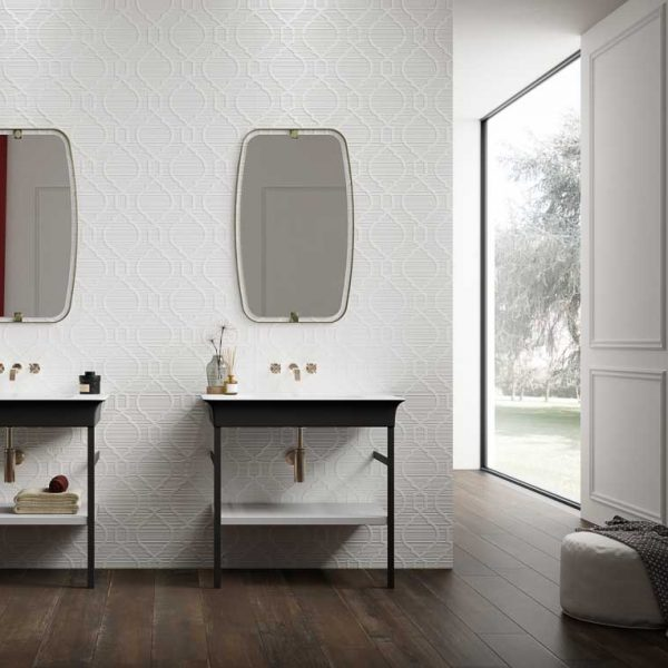 Forme Bianche Scene Intreccio Bianco 1 Forme Bianche Is The Three Dimensional Ceramic Tile Project That Gives Textured Tile Projects Wall Tiles Ceramic Tiles