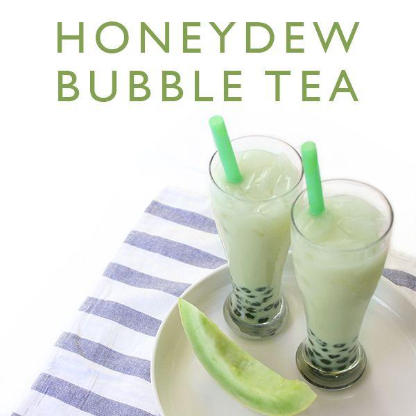 Honeydew Bubble Tea with a2 Milk®