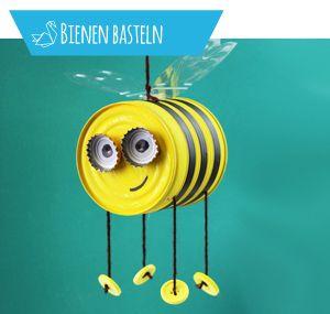 Bienen basteln - Anleitung und Ideen für verschiedene Materialien - Talu.de #sommerkleidselbernähen