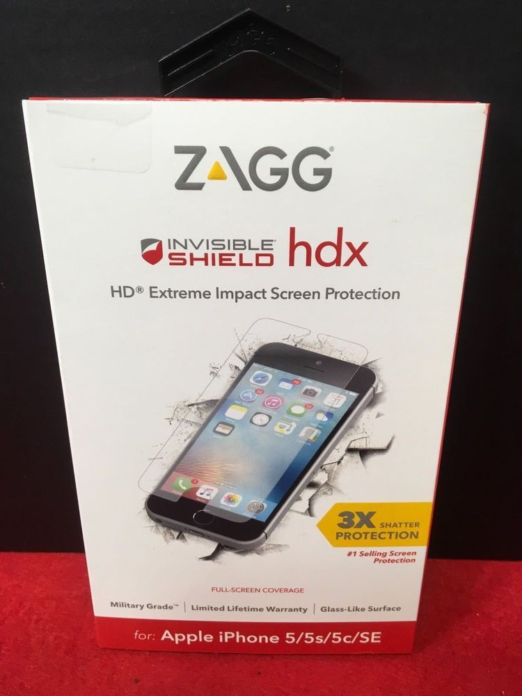 newest 46528 37262 ZAGG Invisible Shield HDX Extreme Impact Screen Protector for iPhone ...