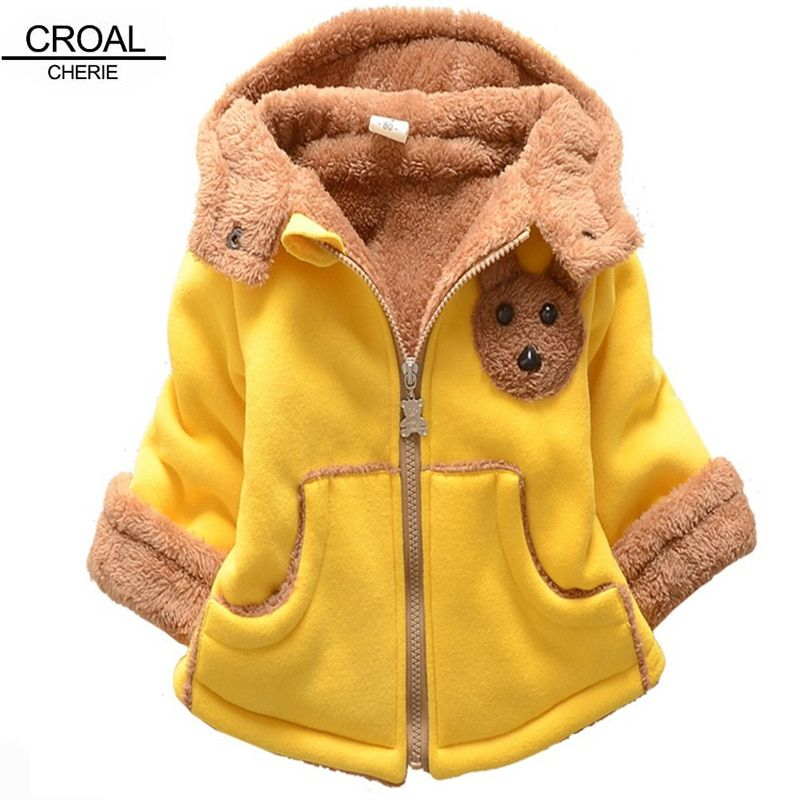 Kids Baby Girls Boys Infant Hooded Coat Rabbit Jacket Thick Warm Clothes US
