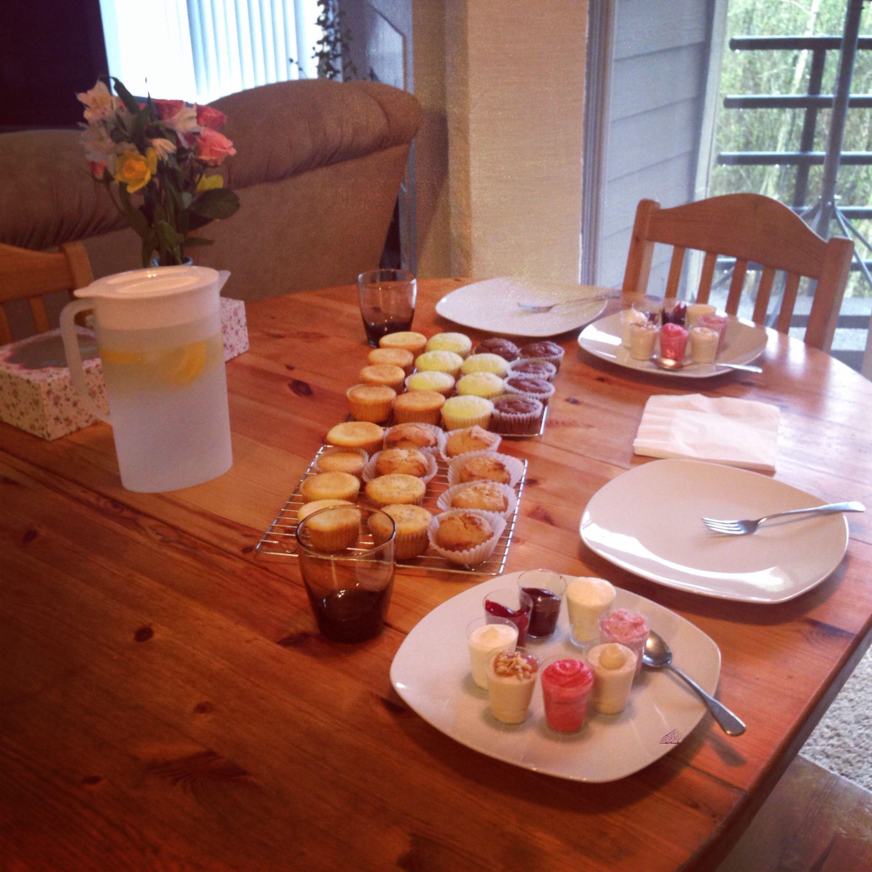 Cake tasting table display wedding cake tasting cake