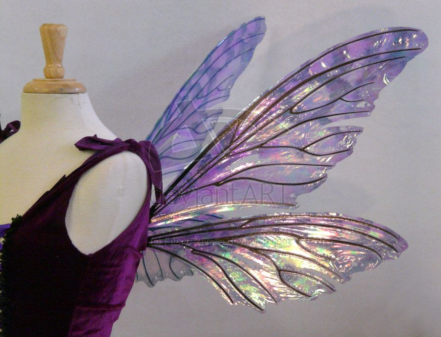 Teasel wings Amethyst by FaeryAzarelle.deviantart.com