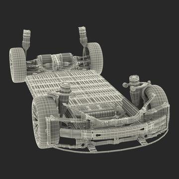 Tesla Model S Chassis 3D Model 자동차