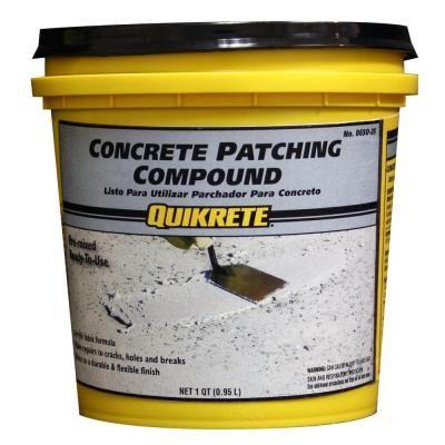 Quikrete 1 Qt Concrete Patching Compound 865035 The Home Depot Concrete Concrete Bird Bath Stained Concrete