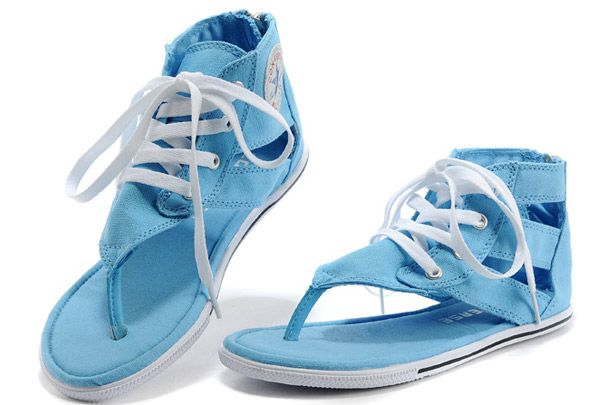 c286ea2f818 2014 Newest Converse Chuck Taylor All Star Gladiator Thong Sandals For  Womens High Sky Blue Canvas