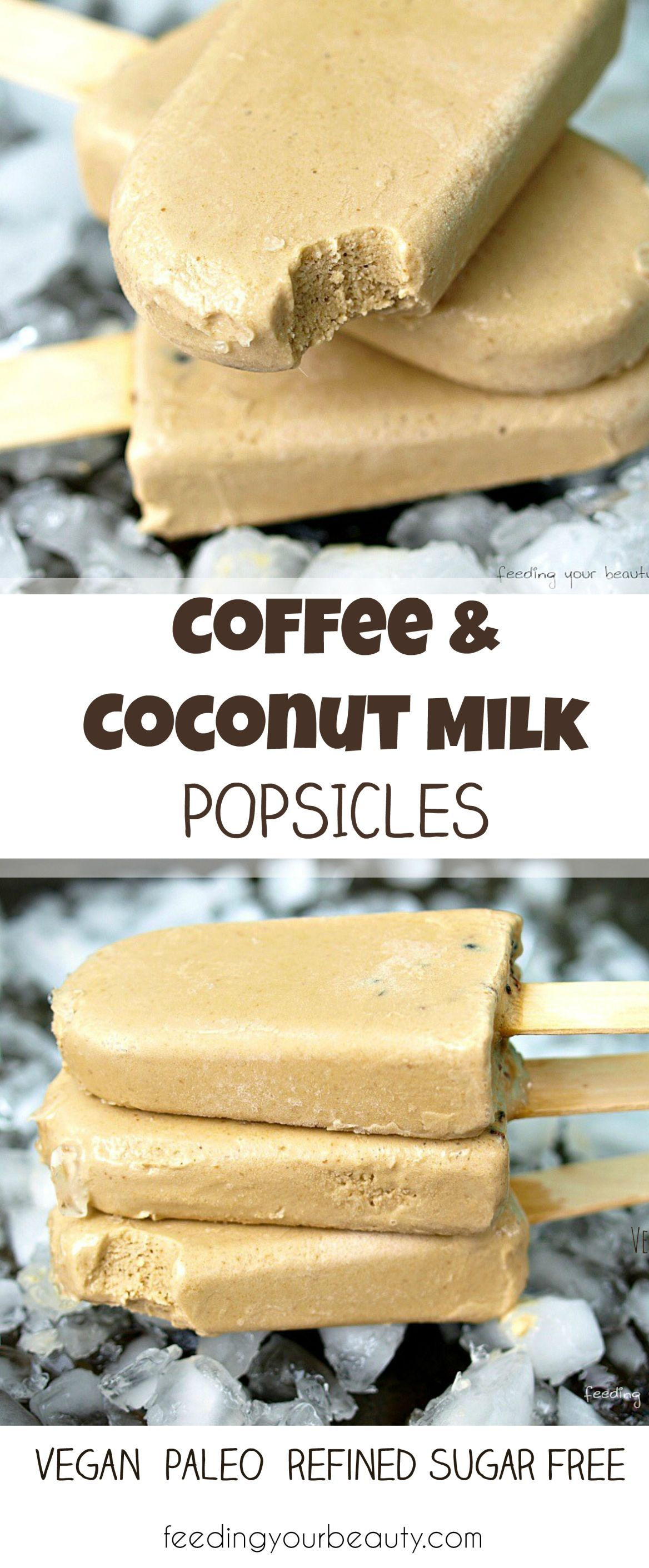 Photo of Coffee coconut milk popsicles – vegan, paleo, refined sugar-free