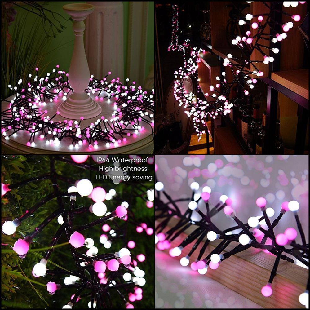 Pink String Lights Brilliant Fairy String Lights Pretty Led Circle Bedroom Outdoor Valentine Review