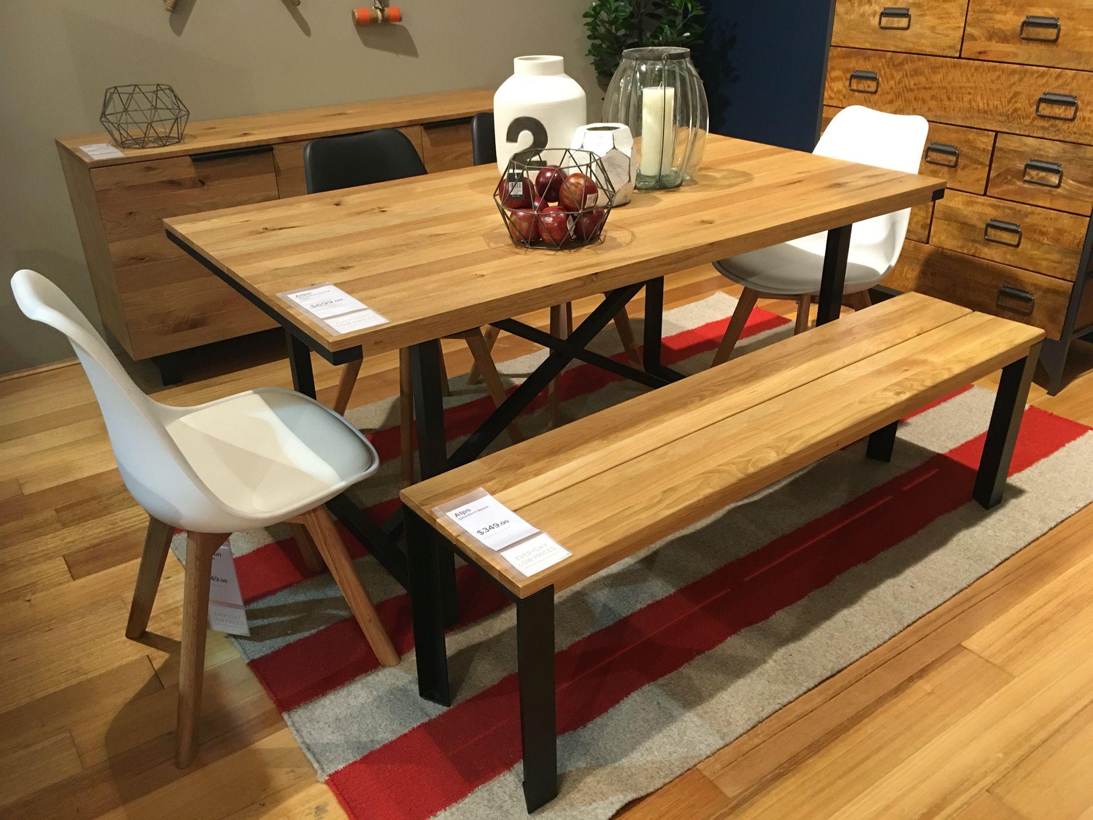 Prime Alps Dining Table And Bench Seat From Freedom Dream House Onthecornerstone Fun Painted Chair Ideas Images Onthecornerstoneorg