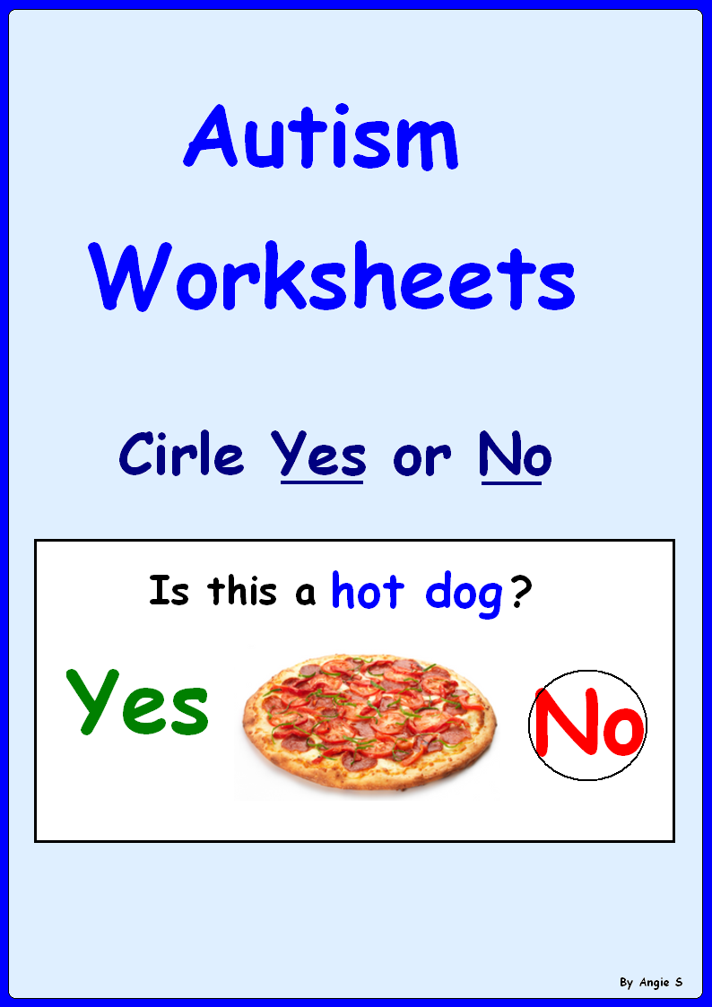 Worksheets Autism Worksheets yes no questions for speech therapy autism and special worksheets a great activity to target basic good students with a