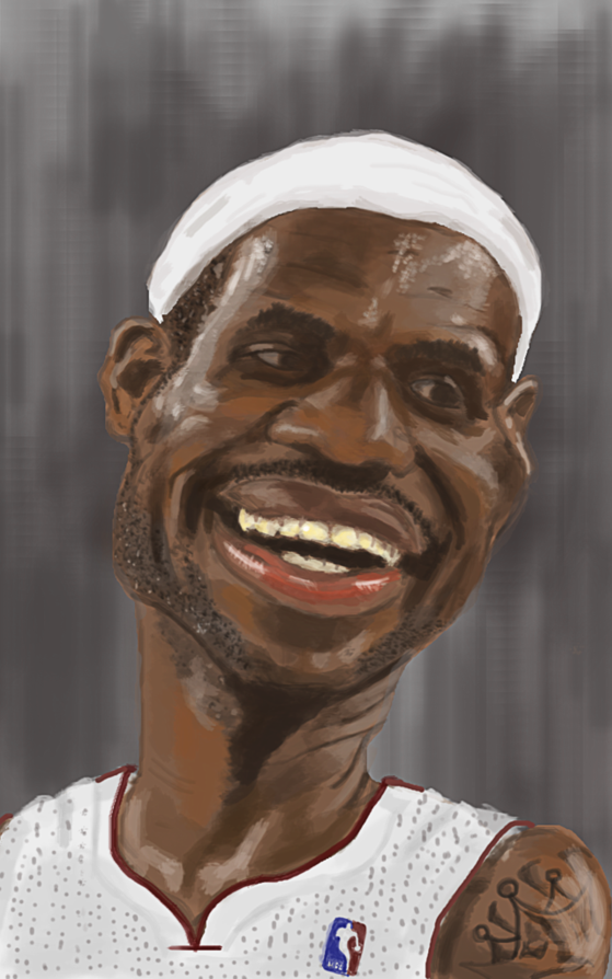 Step By Step How To Draw Lebron James Face Drawingtutorials101 Com Lebron James Art Drawings Celebrity Drawings