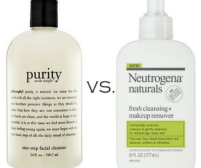 Skincare Philosophy Purity Vs Neutrogena Naturals Cleanser Remover