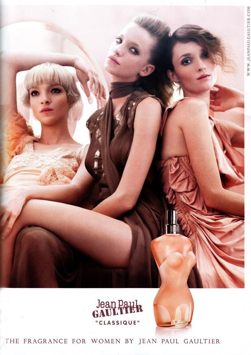 Audrey Marnay  Mariacarla Boscono  Milagros Schmoll - Parfumerie et parapharmacie - Parfumeries - Jean Paul Gaultier