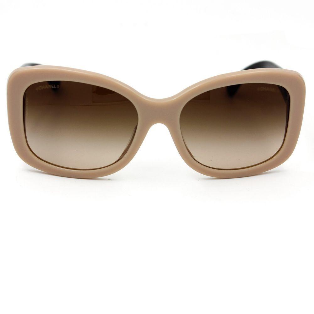 2b8903fe39 CHANEL Sunglasses Beige Rectangle Summer Frame with Brown Gradient Lenses  5322  CHANEL  Rectangular