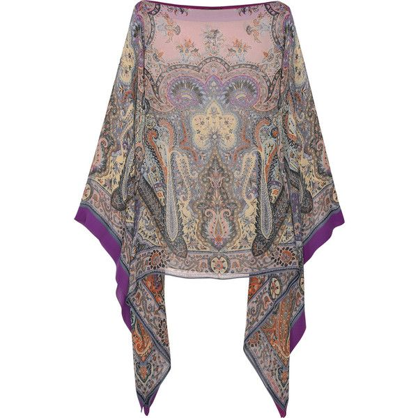 Loving my chiffon poncho...(looks like this one, not as pricey...) Printed silk-chiffon poncho ($600) found on Polyvore