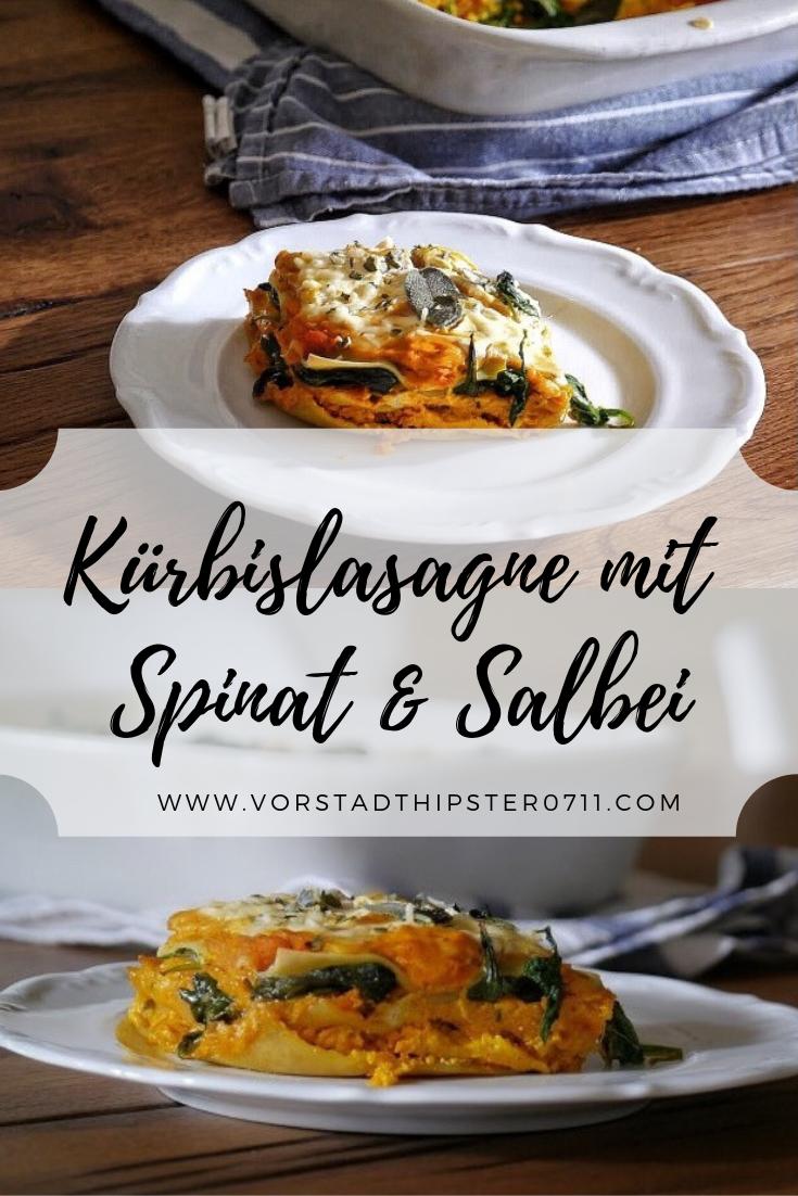 Kürbislasagne mit Spinat & Salbei #spinatlasagne