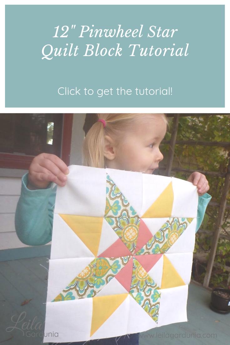 Emily S Pinwheel Star Tutorial Leila Gardunia Quilt Block Patterns Free Pinwheel Quilt Pattern Quilt Blocks