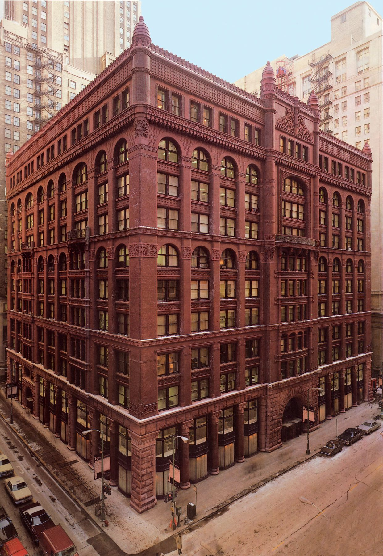 Burnham & Root's Rookery in Chicago. Recently made famous