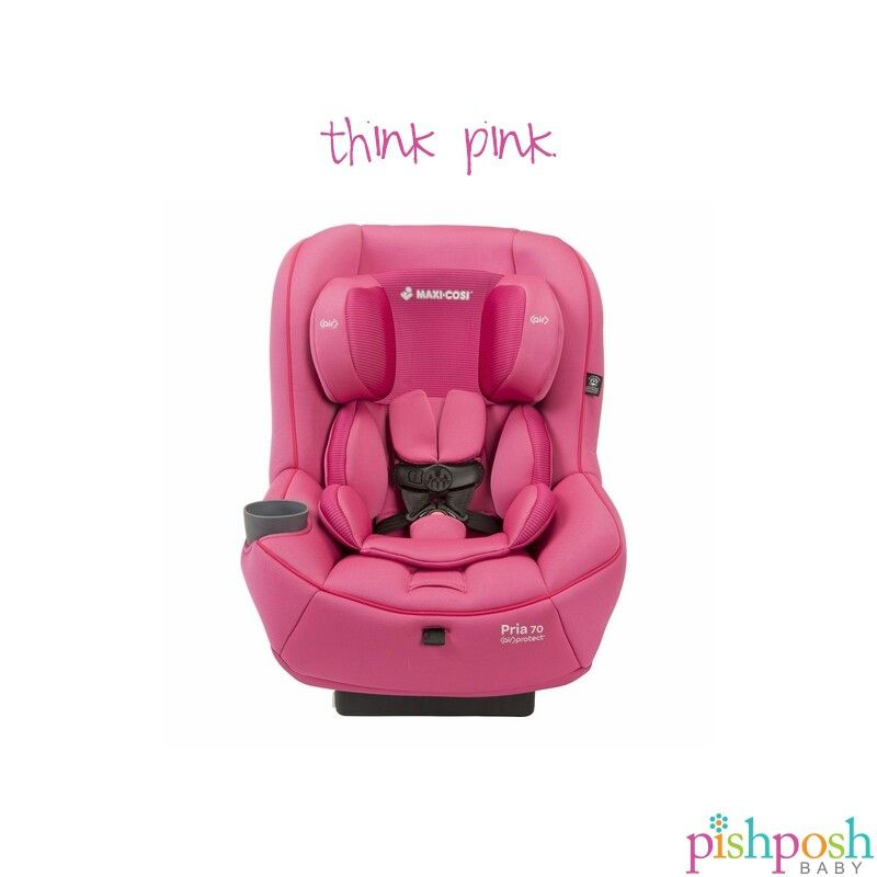 Or blue. And grey! The super safe Maxi Cosi Pria 70 2015, available in 9 gorgeous colors, has great comfort features, including self-wicking bamboo fabric, easy-remove washable seat pad with snaps, and harness cover design with extra padding. Shop our entire collection of Maxi Cosi car seats today!  http://www.pishposhbaby.com/maxi-cosi-pria-70-2015.html