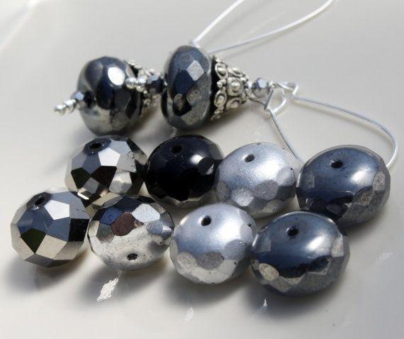 Rondelle Designer Bead Mix 8 Rondelles by Aprishasparkles on Etsy, $3.50