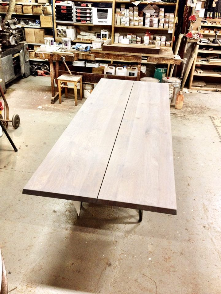 A grey oiled wild oak LowLight Table is getting ready to leave the carpentry. #LowLight #Table #Jacob #Plejdrup www.dk3.dk