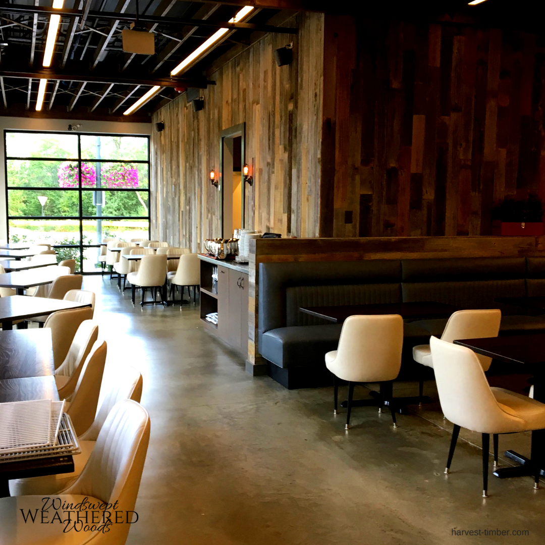 Cool Garage Style For This Modern Restaurant. The Wood