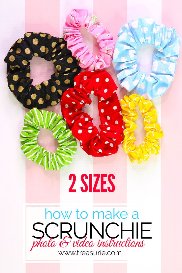 How to Make a Scrunchie {2 sizes} - DIY Scrunchie #scrunchiesdiy