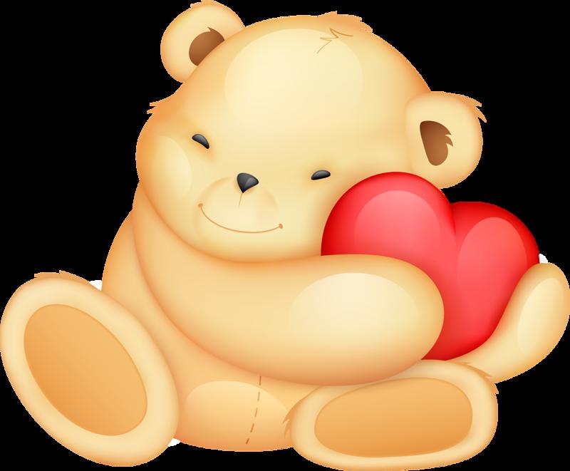 Картинки желтых мишек с сердечками давно