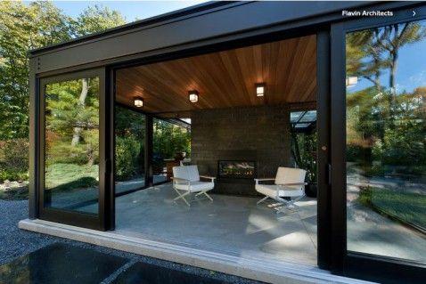 Modernes Gartenhaus   Kamin Entspannung | weekend house