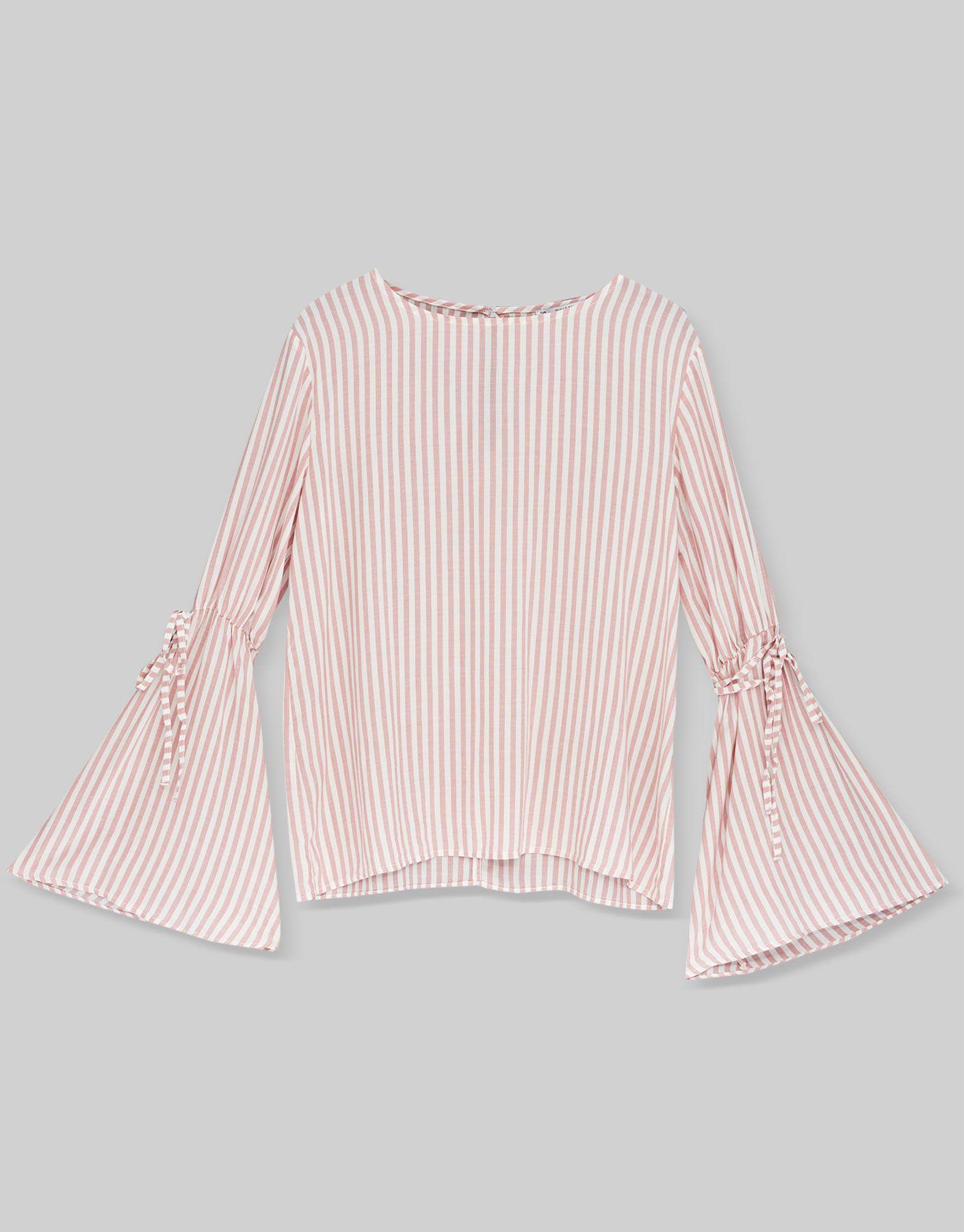 8c3312e3b69ed Camisa manga campana - Blusas y camisas - Ropa - Mujer - PULL BEAR México