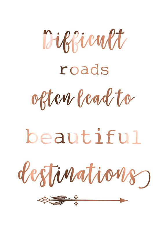 This listing is for a print in either gold, silver or copper foil Difficult roads often lead to beautiful destinations You can also choose from A4 or A3 sizing , print only or with a poster hanger ------------------------------------------------------------------------------------------------------ **SPECIAL OFFER ** BUY 2 PRINTS & RECEIVE A THIRD FOR FREE! Simply add two prints to your cart and write in the 'notes to seller' section at checkout which design you would like as your thir...