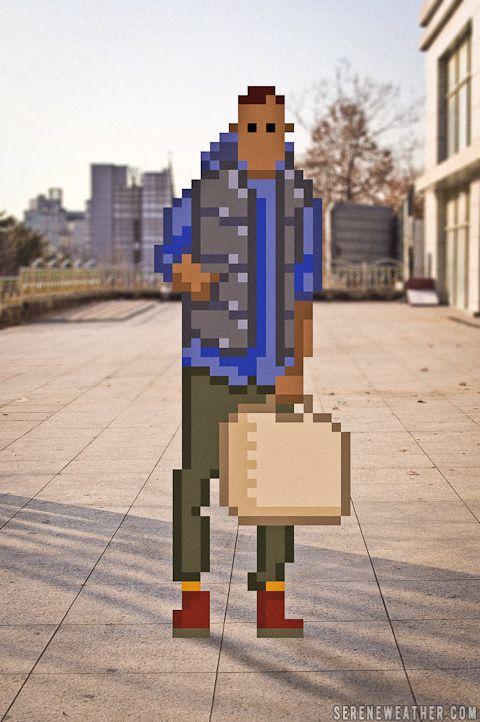 Moda urbana y píxel art, unidos por Serene Weight