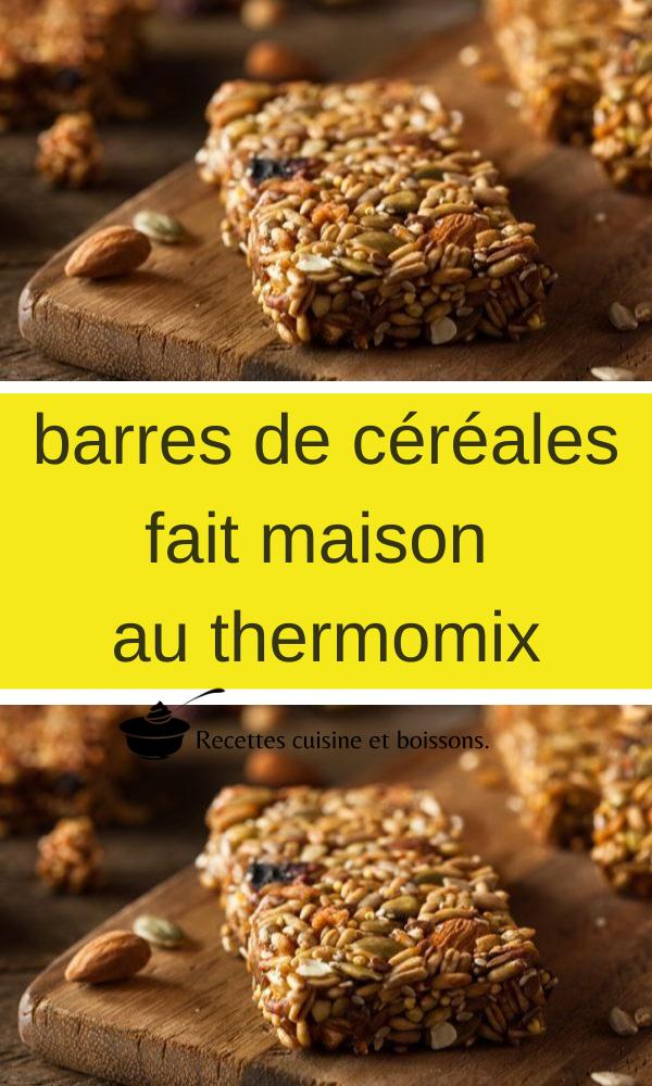 barres de céréales fait maison au thermomix en 2020 (avec images)   Barre de céréales, Barres de ...