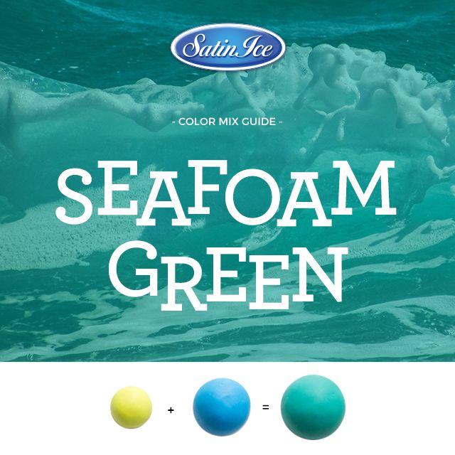 seafoam green color mix by satin ice sugar decor pinterest