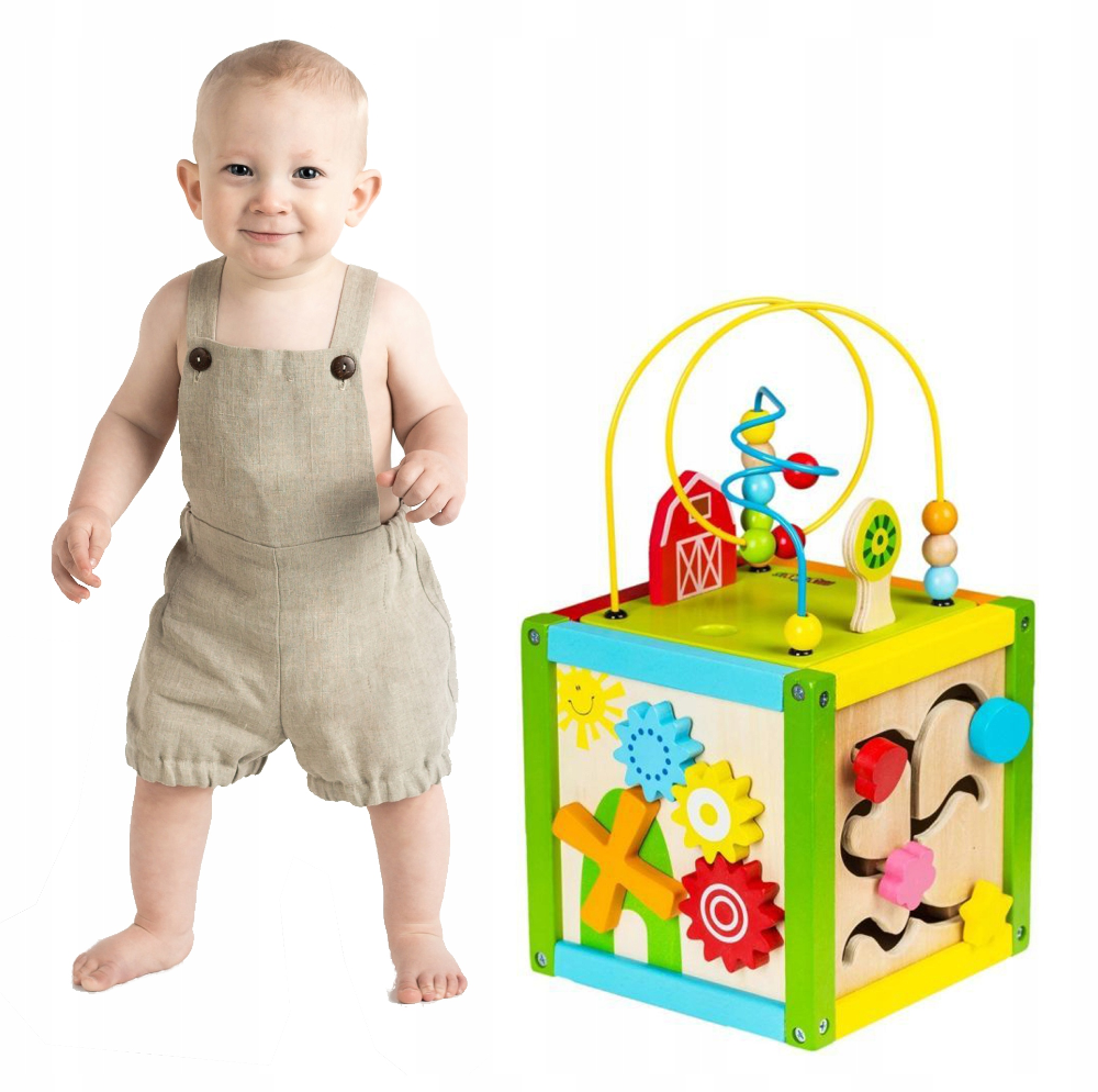 Drewniana Kostka Edukacyjna Interaktywna Sorter 8331830166 Oficjalne Archiwum Allegro Toy Chest Toys Storage
